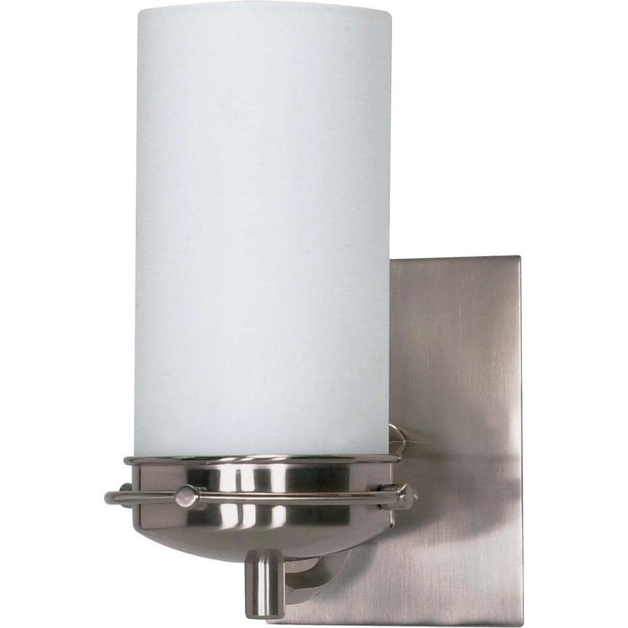 Polaris 1-Light 8.75-in Brushed Nickel Vanity Light