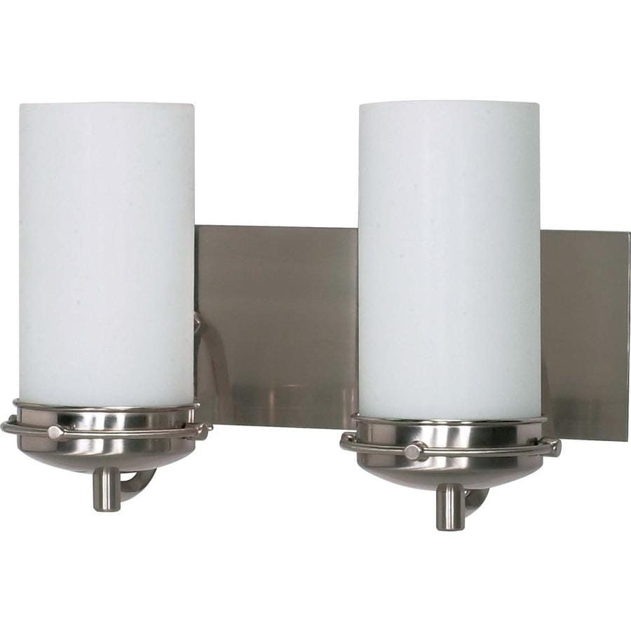 Polaris 2-Light 8.75-in Brushed Nickel Vanity Light