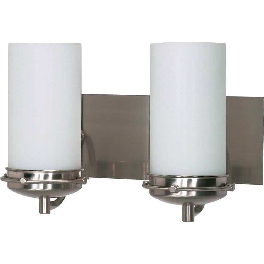 Polaris 2-Light 8.75-in Brushed nickel Vanity Light