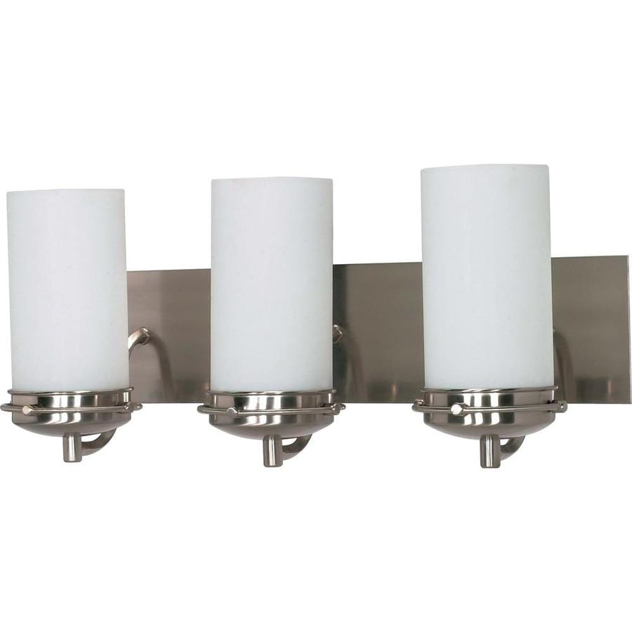 Polaris 3-Light 8.75-in Brushed Nickel Vanity Light