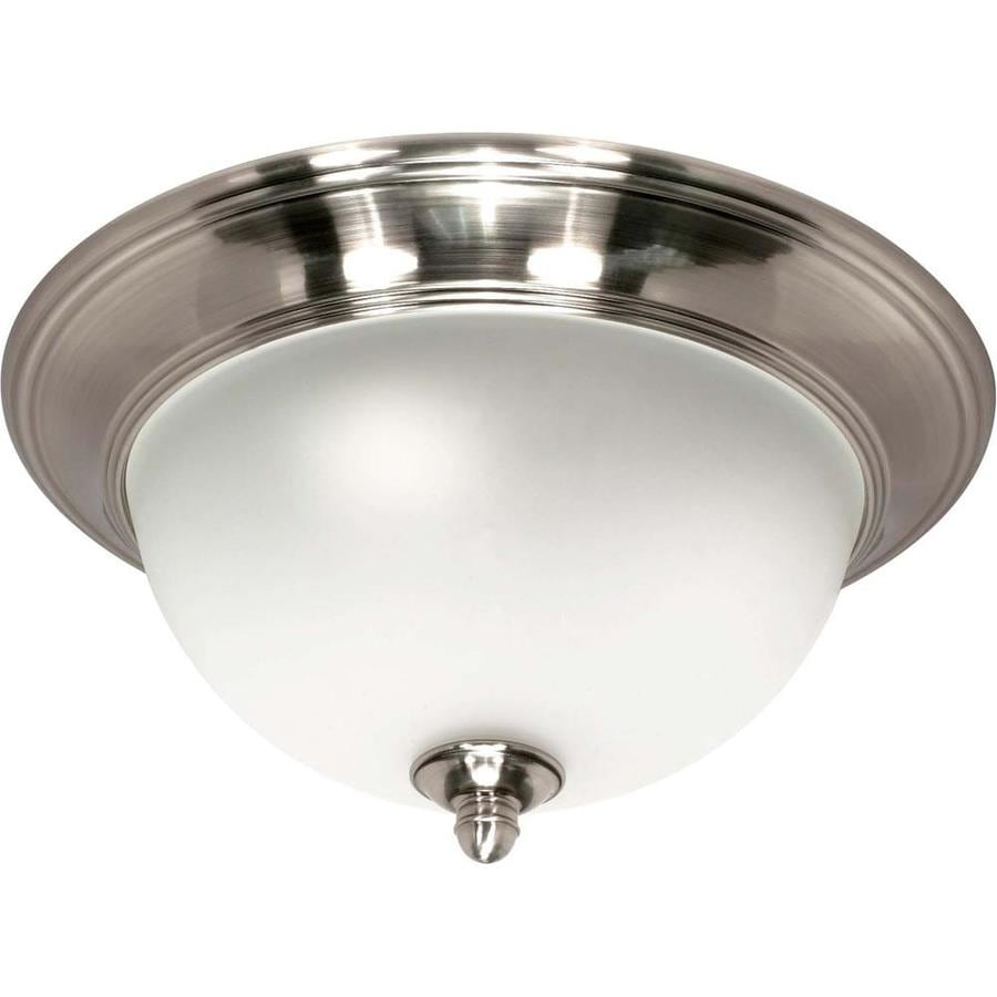 12-in W Smoked Nickel Flush Mount Light