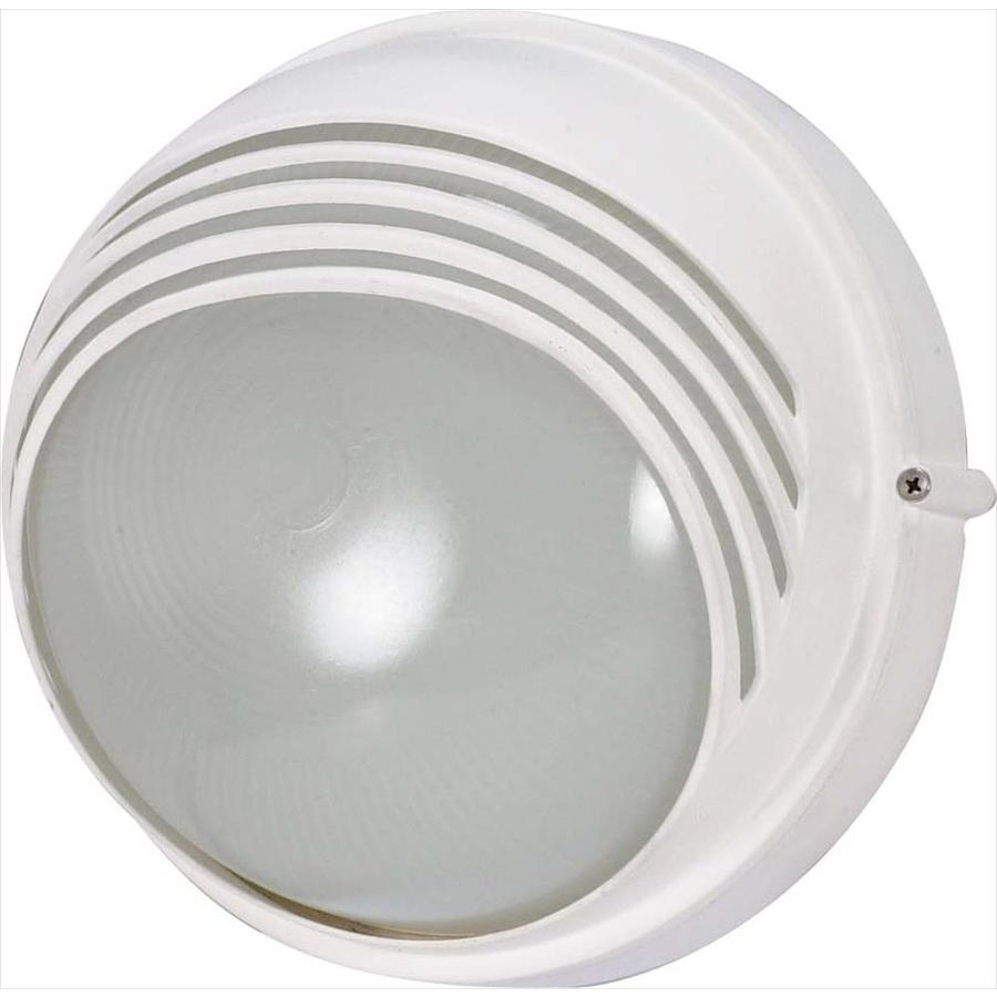 15.19-in H Semi Gloss White Outdoor Wall Light