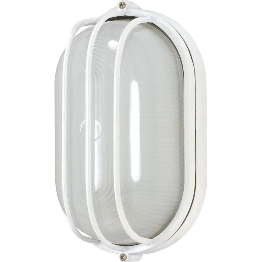 21.44-in H Semi Gloss White Outdoor Wall Light
