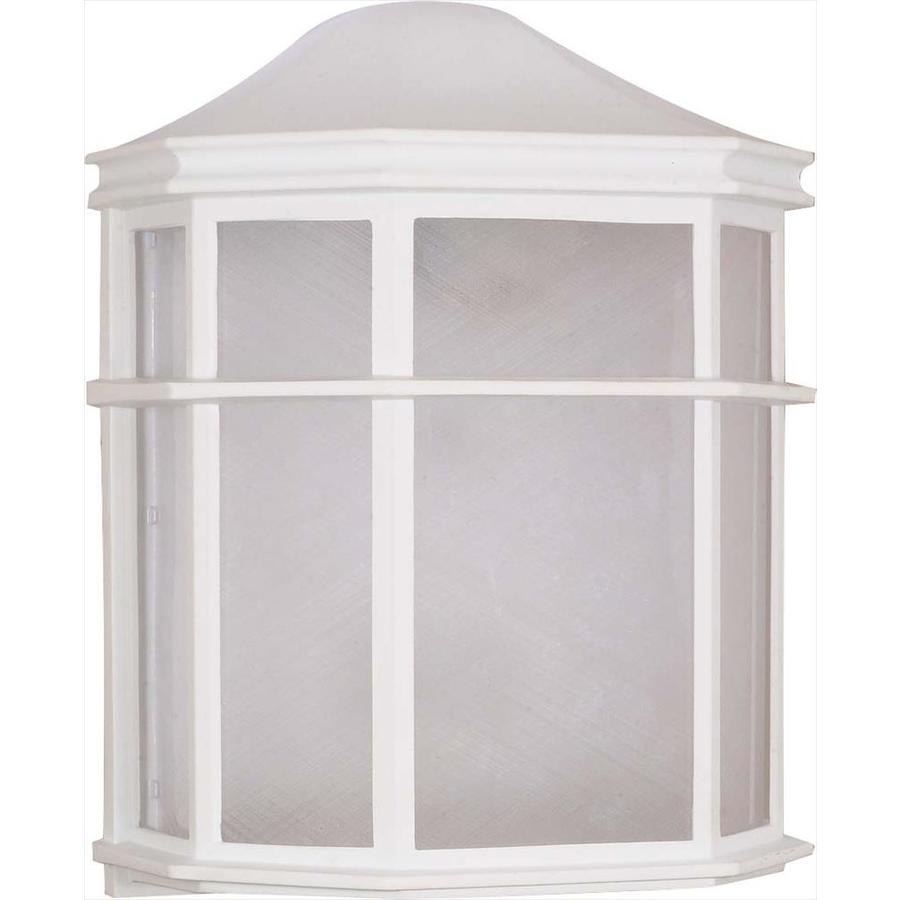 10.9-in H White Outdoor Wall Light