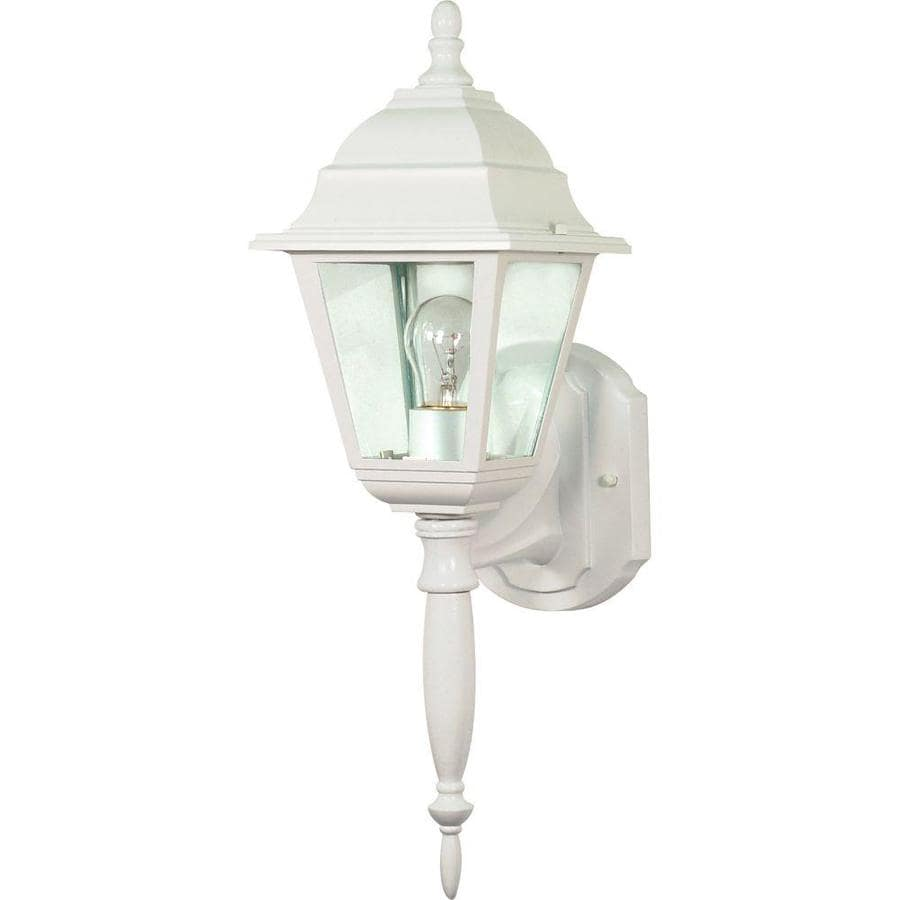 22.3-in H White Outdoor Wall Light