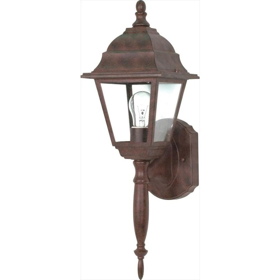 22.3-in H Old Bronze Outdoor Wall Light