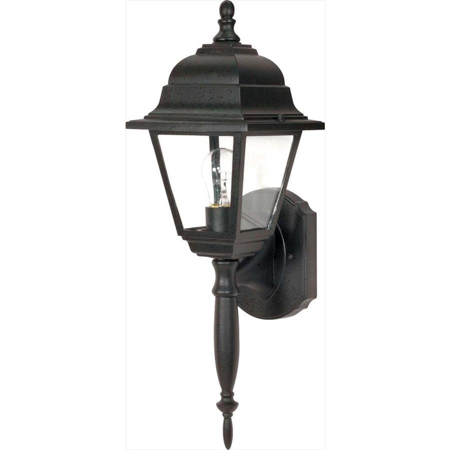 22.3-in H Textured Black Outdoor Wall Light