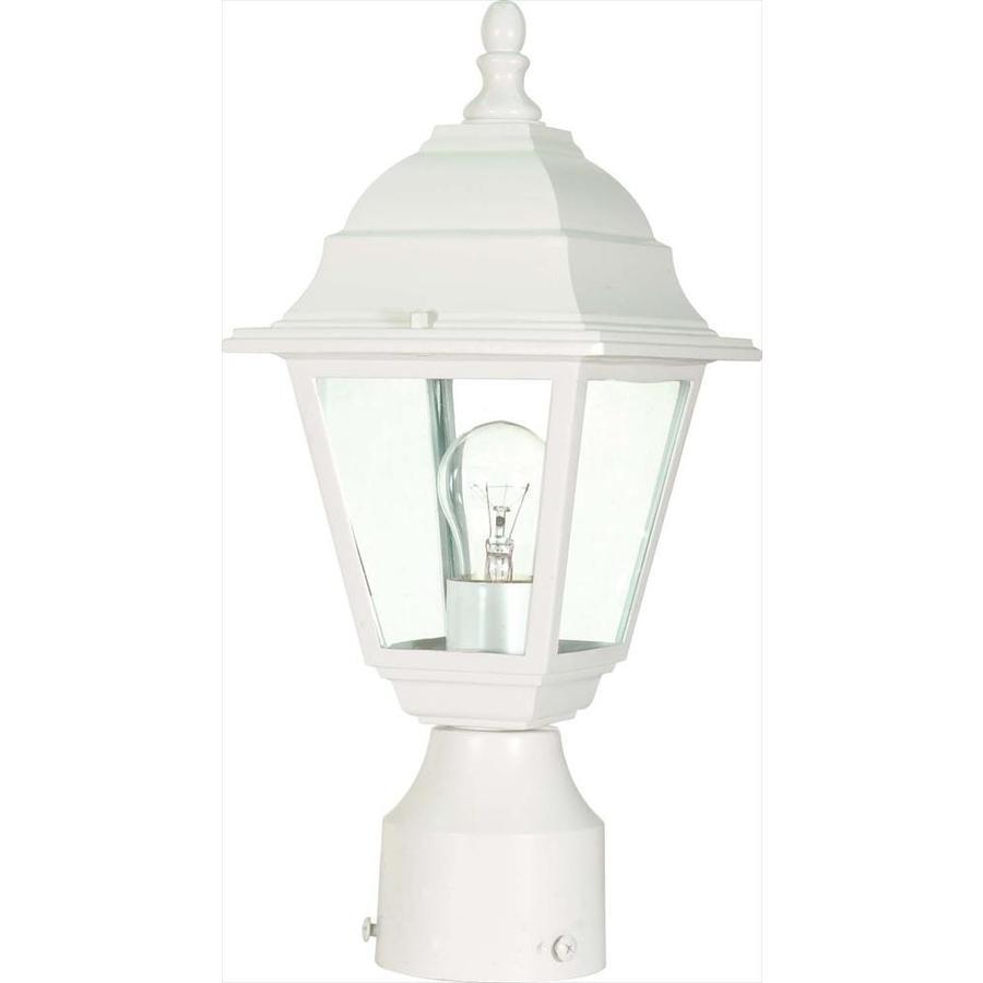 14.64-in W White Outdoor Flush-Mount Light