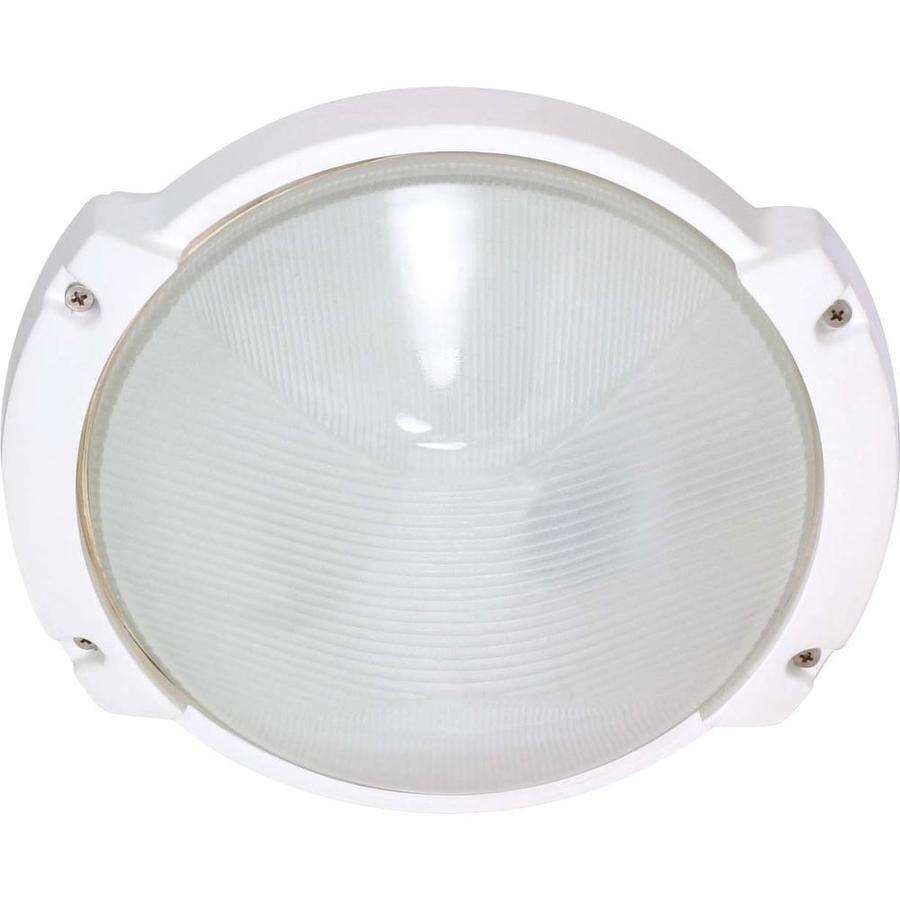 13.72-in H Semi Gloss White Outdoor Wall Light
