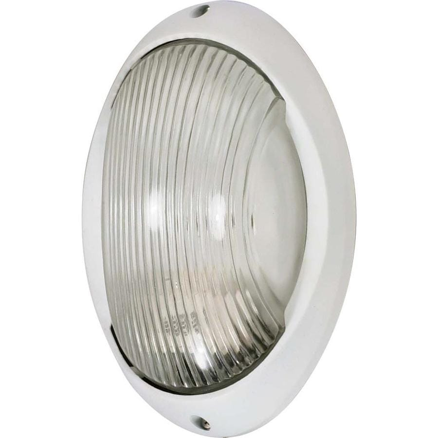 19.97-in H Semi Gloss White Outdoor Wall Light