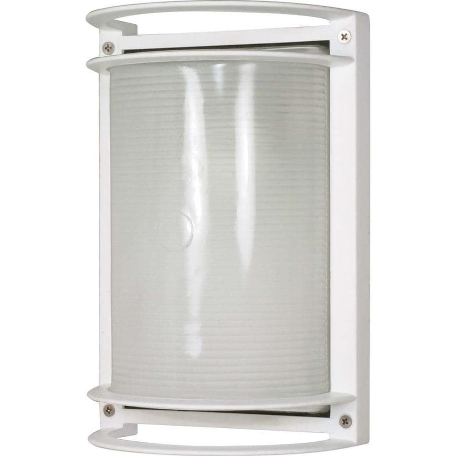 19.6-in H Semi Gloss White Outdoor Wall Light