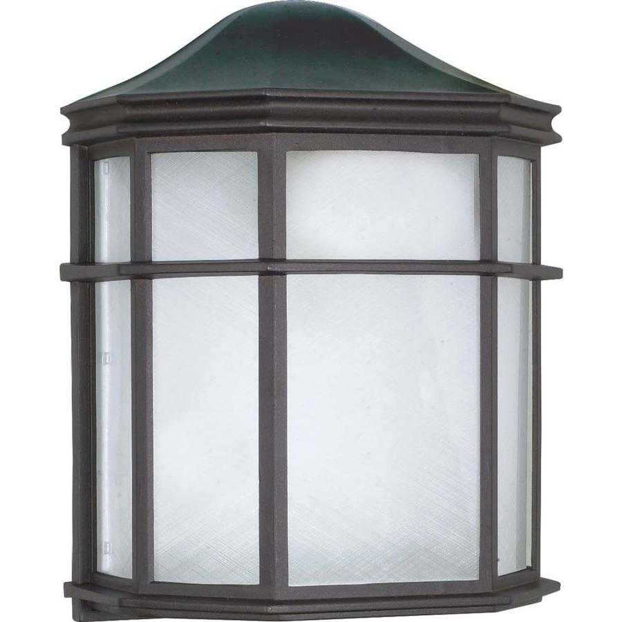 10.9-in H Textured Black Outdoor Wall Light