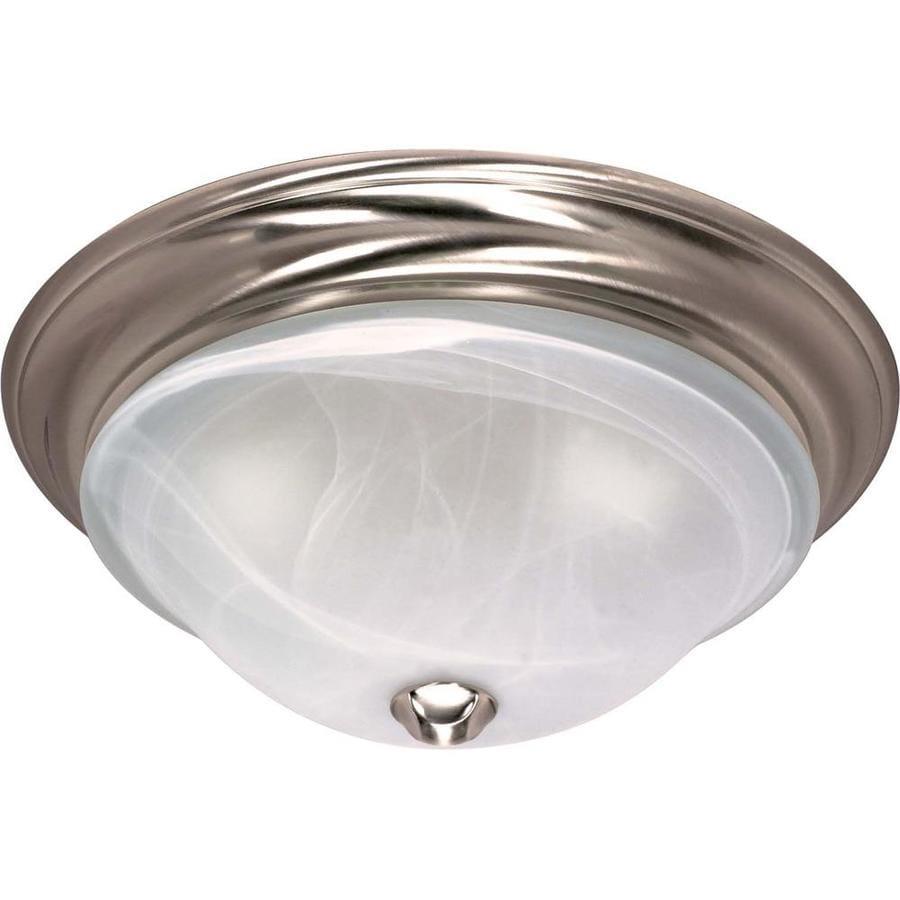 15.5-in W Brushed Nickel Ceiling Flush Mount Light