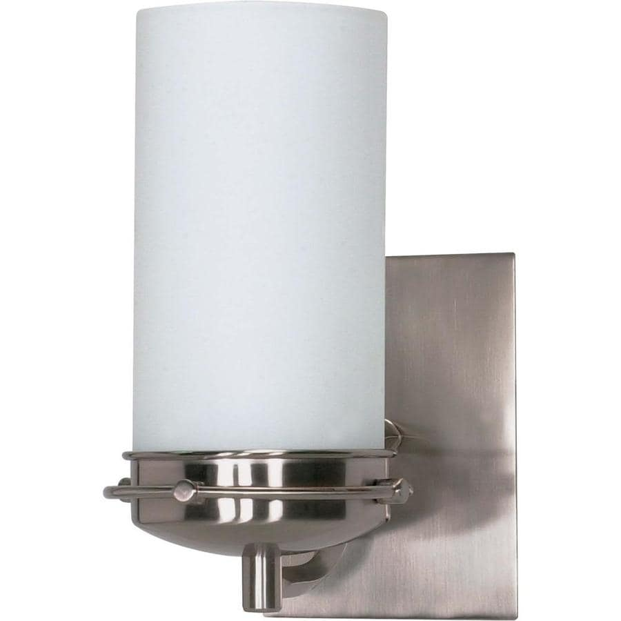 Polaris 1-Light 8.75-in Brushed Nickel Vanity Light
