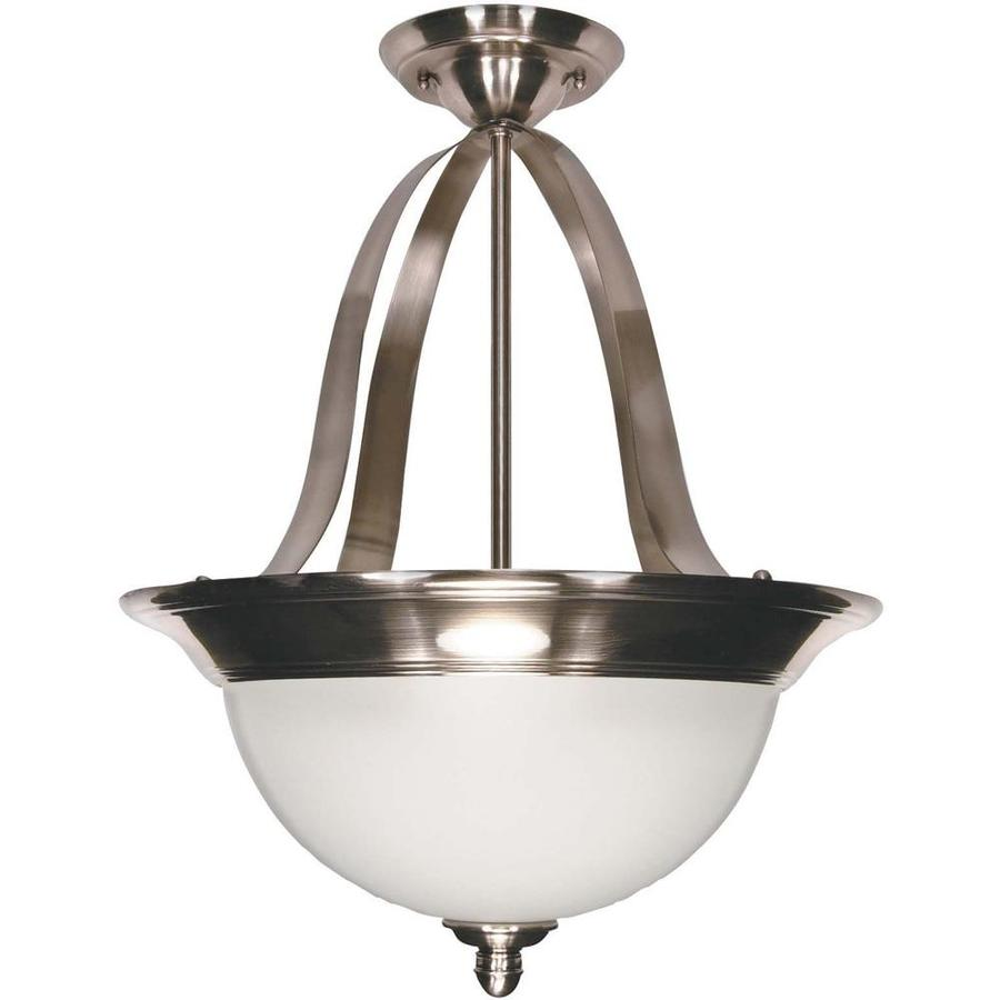 Palladium 16.75-in Smoked Nickel Single Bell Pendant