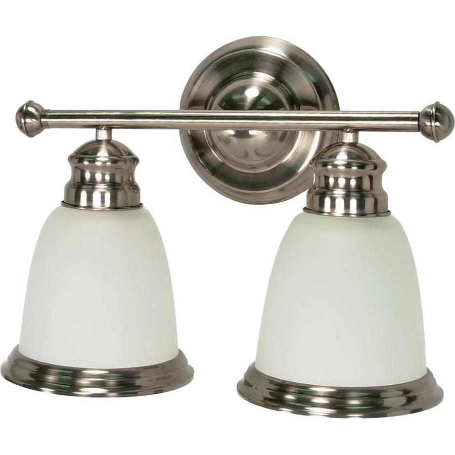 Palladium 2-Light 11-in Smoked Nickel Vanity Light