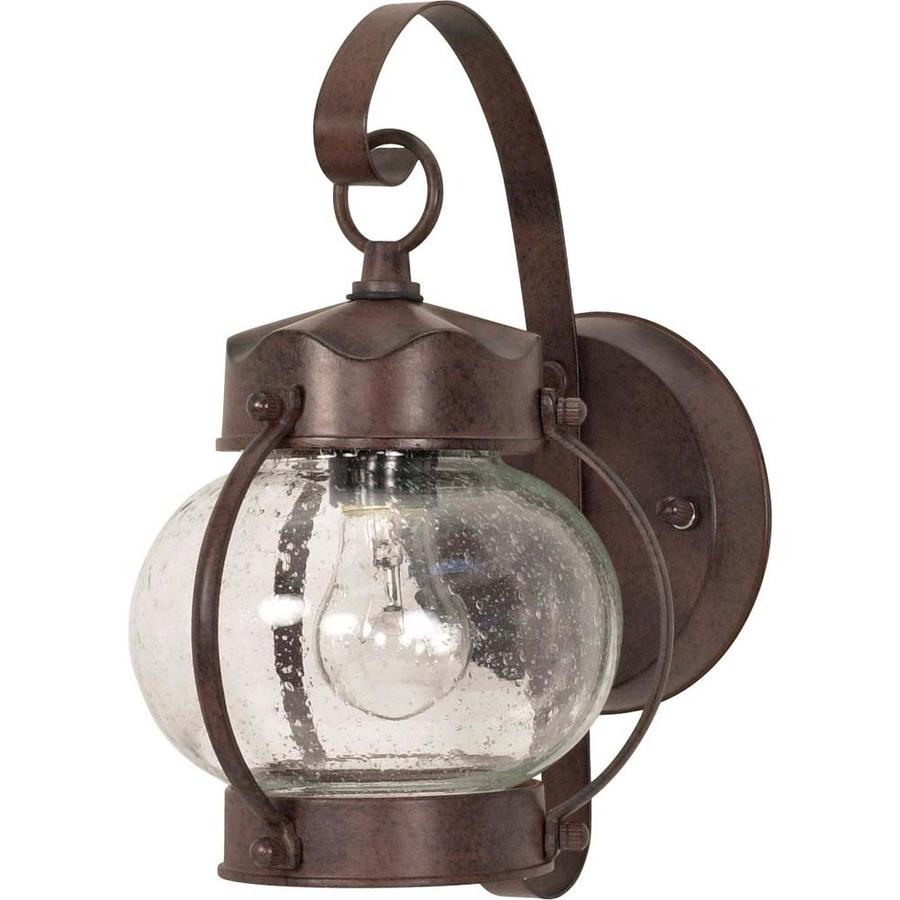 10.625-in H Old Bronze Outdoor Wall Light