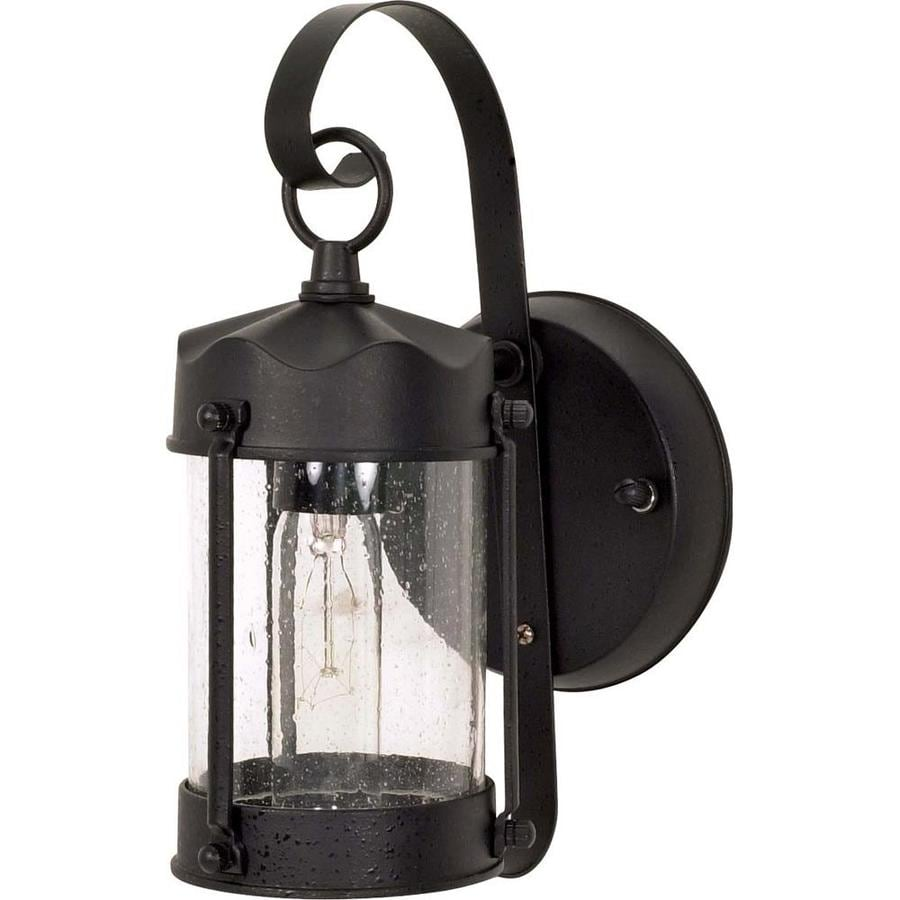 12.74-in H Textured Black Outdoor Wall Light