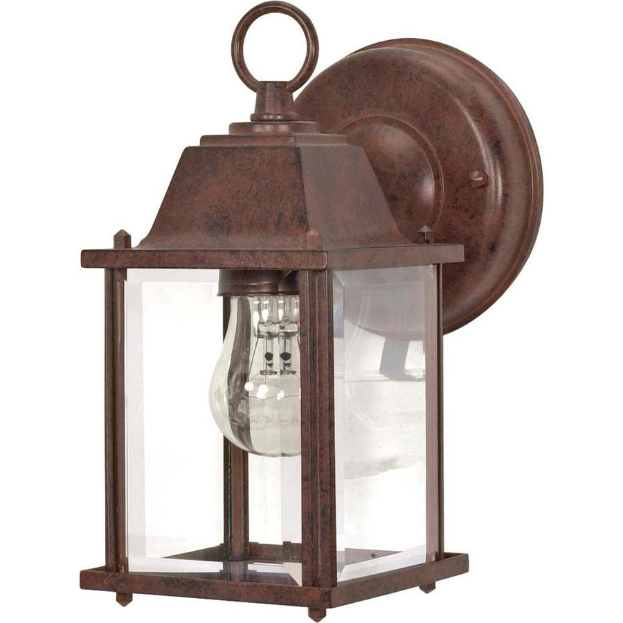 8.625-in H Old Bronze Outdoor Wall Light