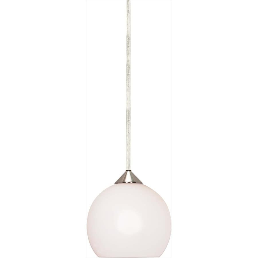 Milano 13-in Brushed Nickel Mini Bell Pendant