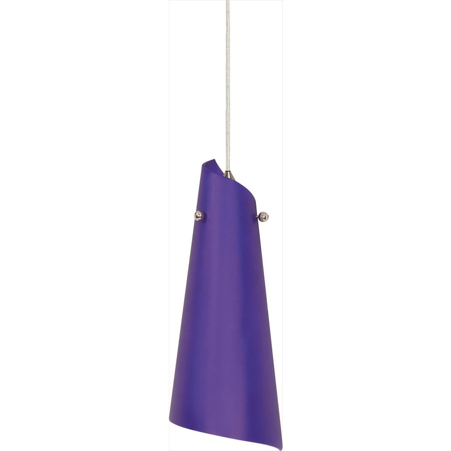 Milano 20-in Brushed Nickel Mini Tinted Glass Bell Pendant