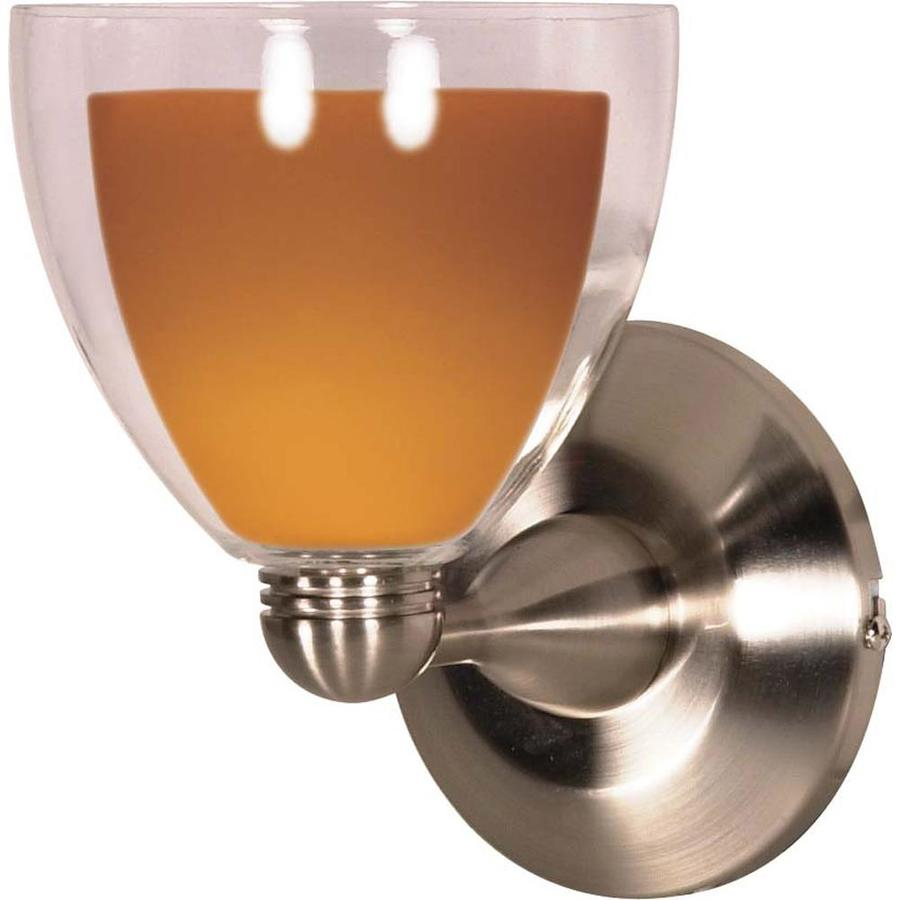 Castillo 17.91-in W 1-Light Brushed Nickel Arm Wall Sconce