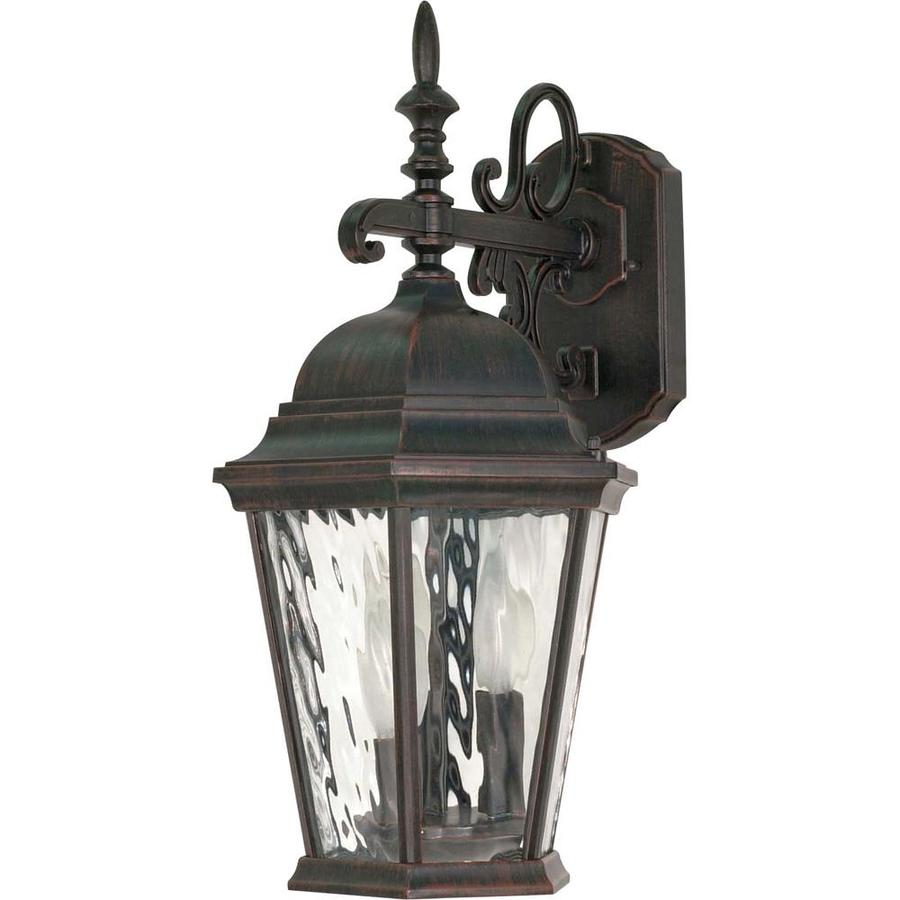 18.87-in H Old Penny Bronze Outdoor Wall Light