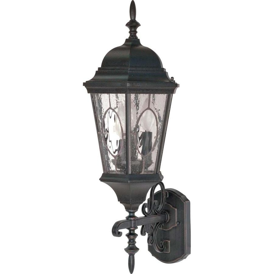 19.36-in H Textured Black Outdoor Wall Light
