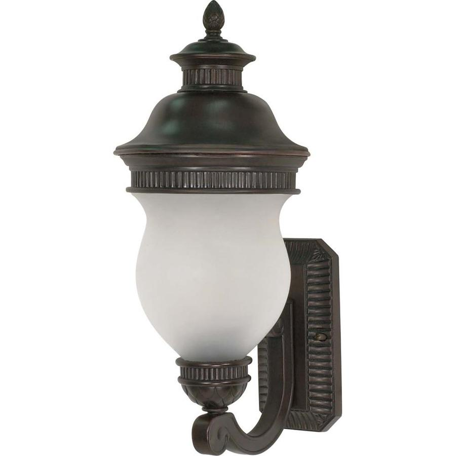 12.74-in H Chestnut Bronze Outdoor Wall Light