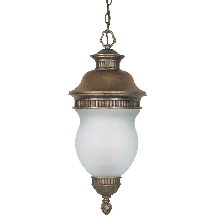13.11-in W Platinum Gold Brass Outdoor Flush-Mount Light
