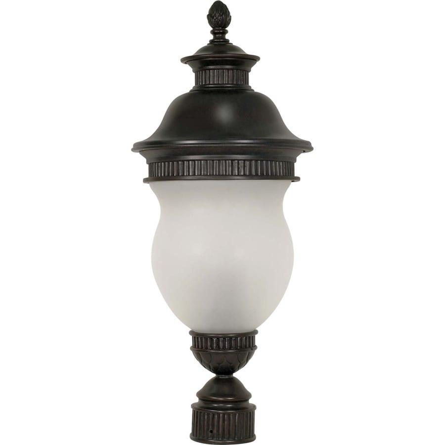 13.11-in W Chestnut Bronze Outdoor Flush-Mount Light