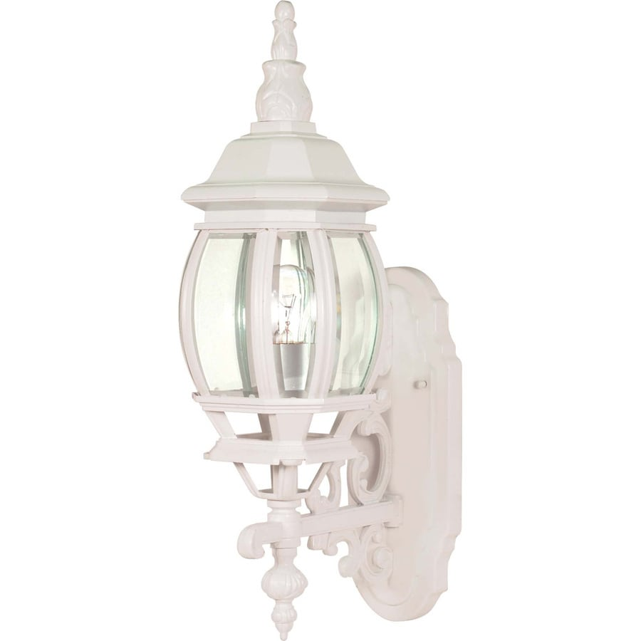 20-in H White Outdoor Wall Light