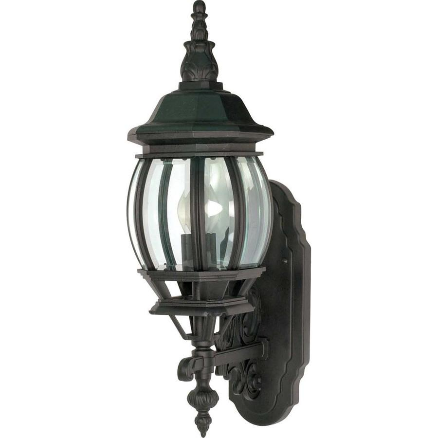 16.91-in H Textured Black Outdoor Wall Light