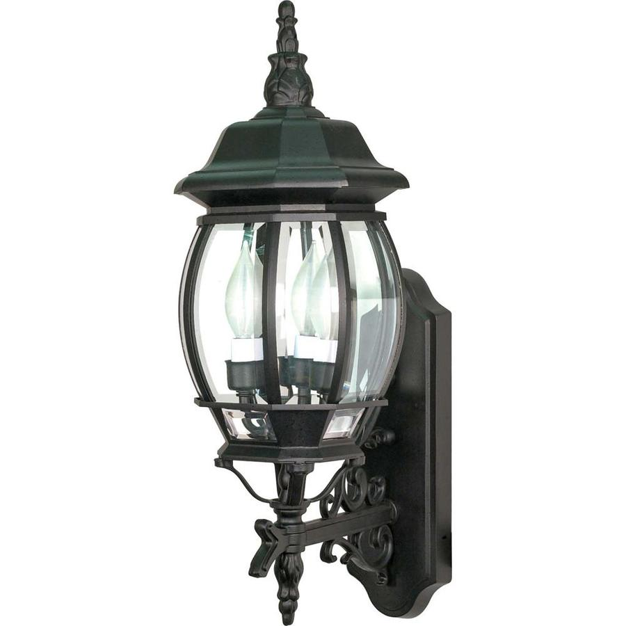 20.95-in H Textured Black Outdoor Wall Light