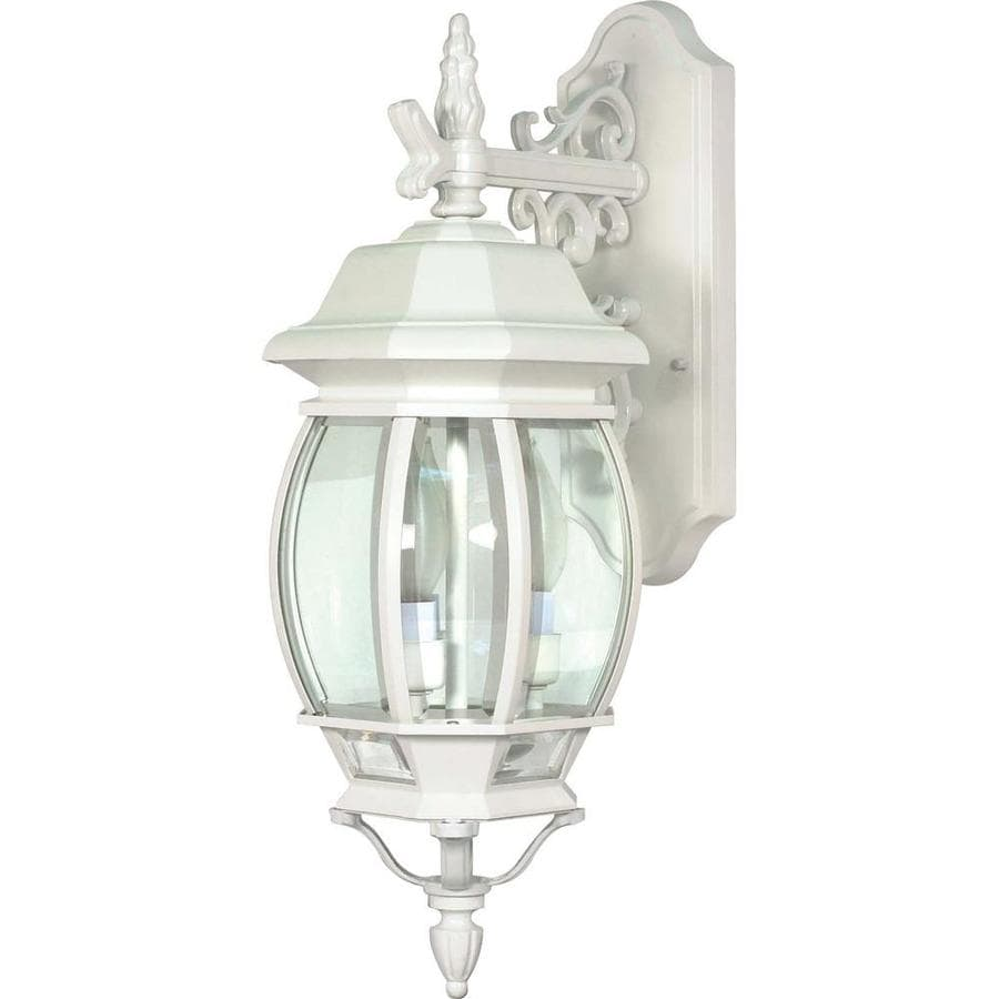 24.14-in H White Outdoor Wall Light