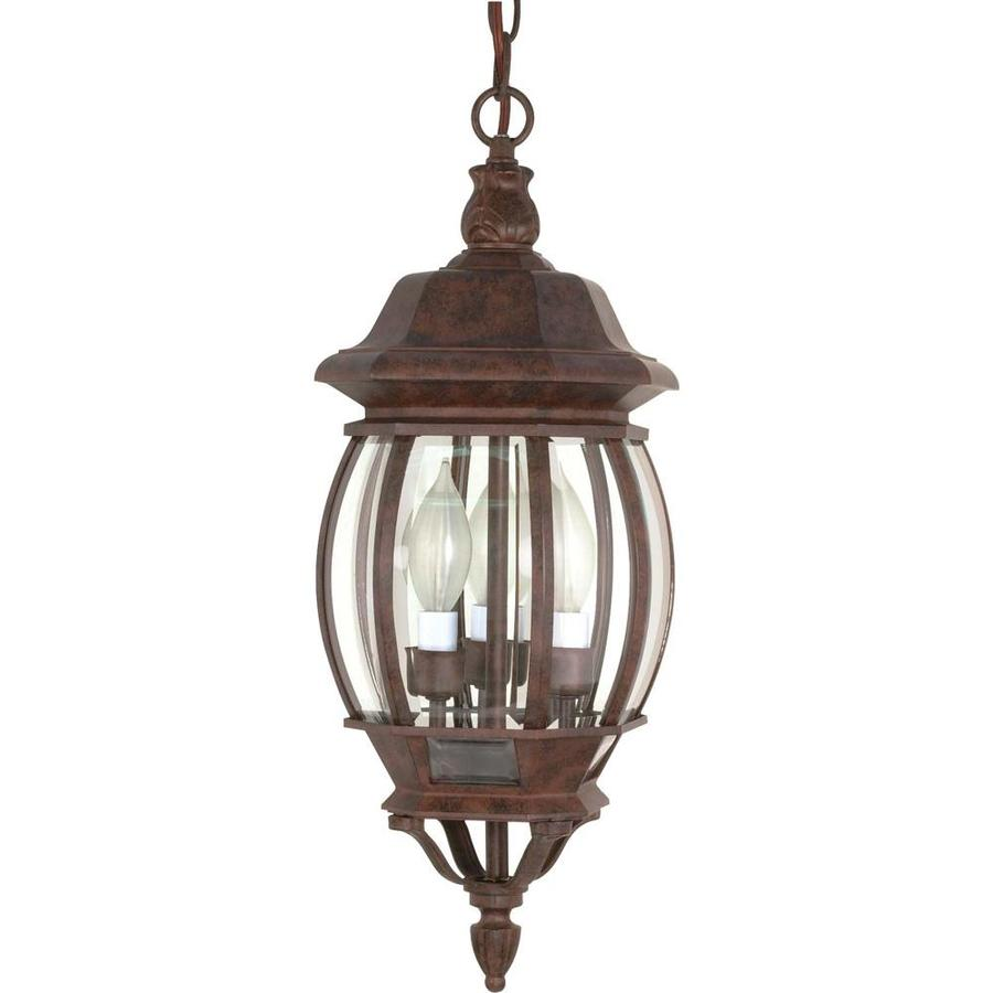 10.29-in W Old Bronze Outdoor Flush-Mount Light