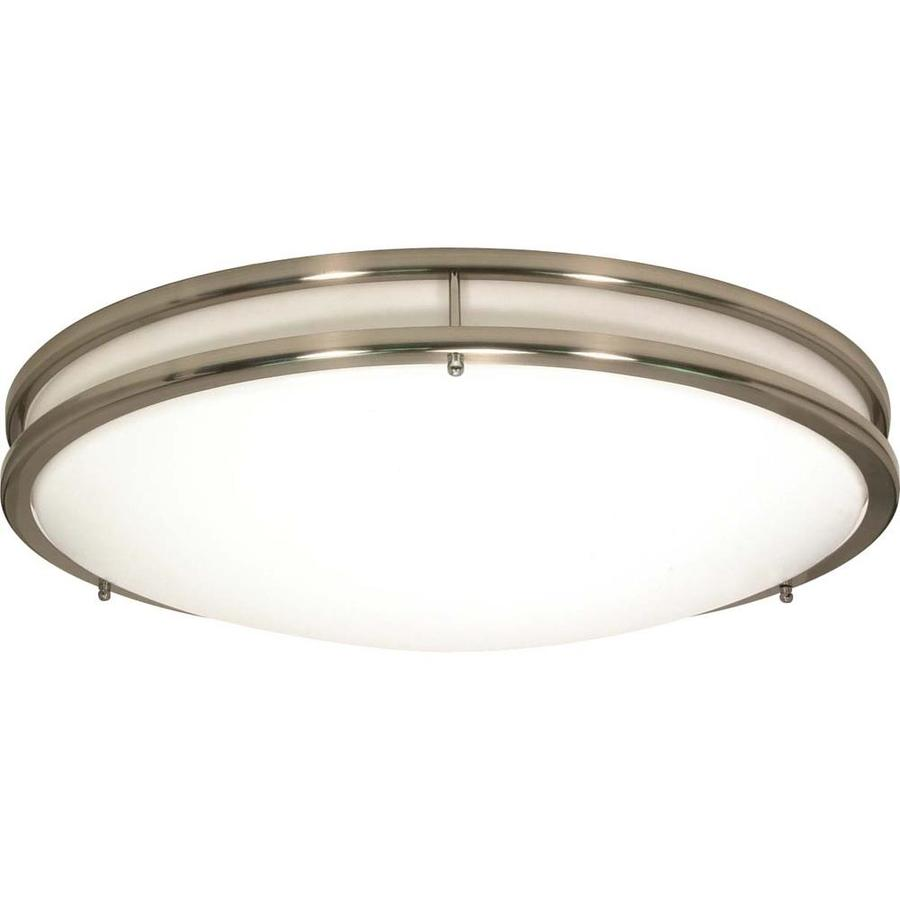 24-in W Brushed Nickel Ceiling Flush Mount Light