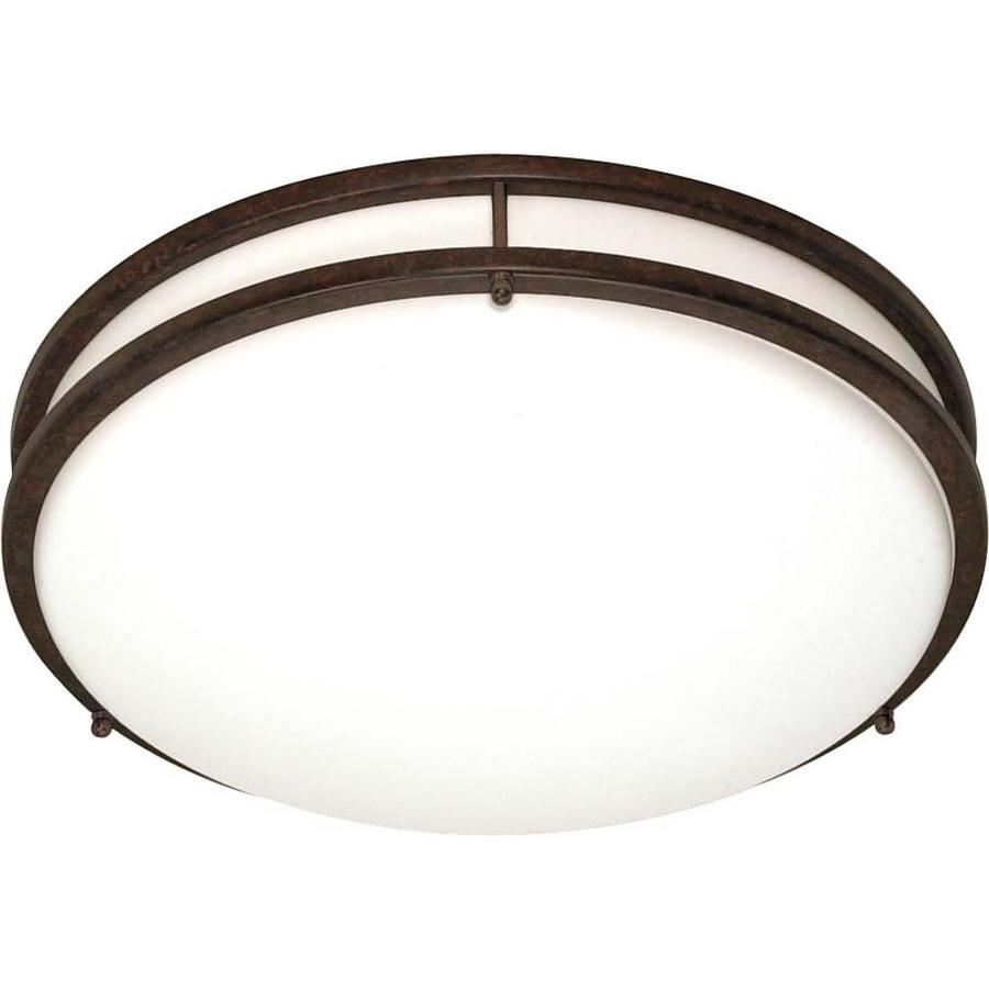 24-in W Old Bronze Ceiling Flush Mount Light