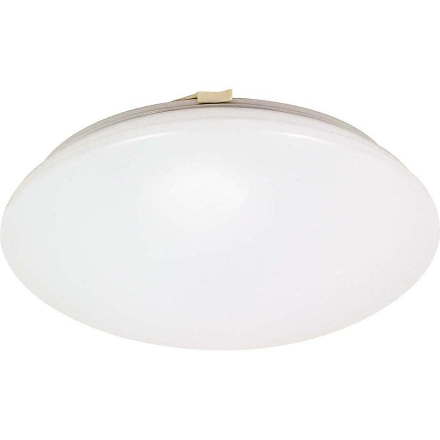 1-in W White Flush Mount Light