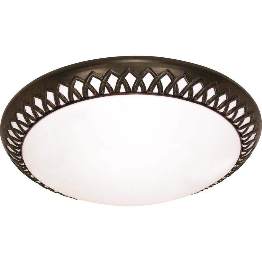 2-in W Old bronze Flush Mount Light