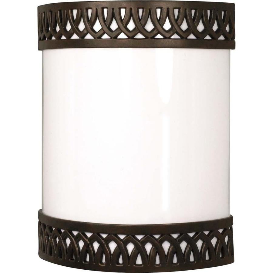 Castillo 9-in W 1-Light Old Bronze Pocket Wall Sconce