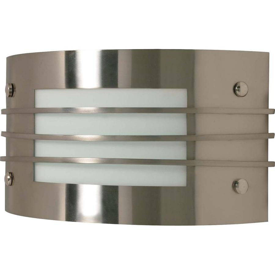 Castillo 14.88-in W 1-Light Brushed Nickel Pocket Hardwired Wall Sconce