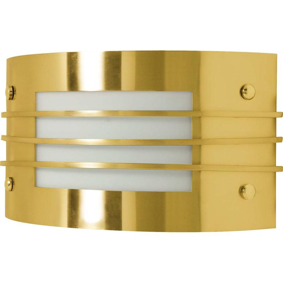 Castillo 14.88-in W 1-Light Brushed Brass Pocket Hardwired Wall Sconce