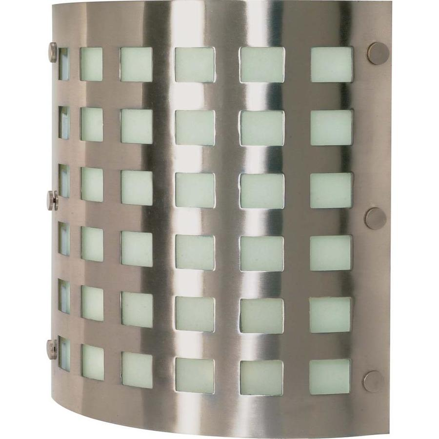 Castillo 13.85-in W 2-Light Brushed Nickel Pocket Hardwired Wall Sconce