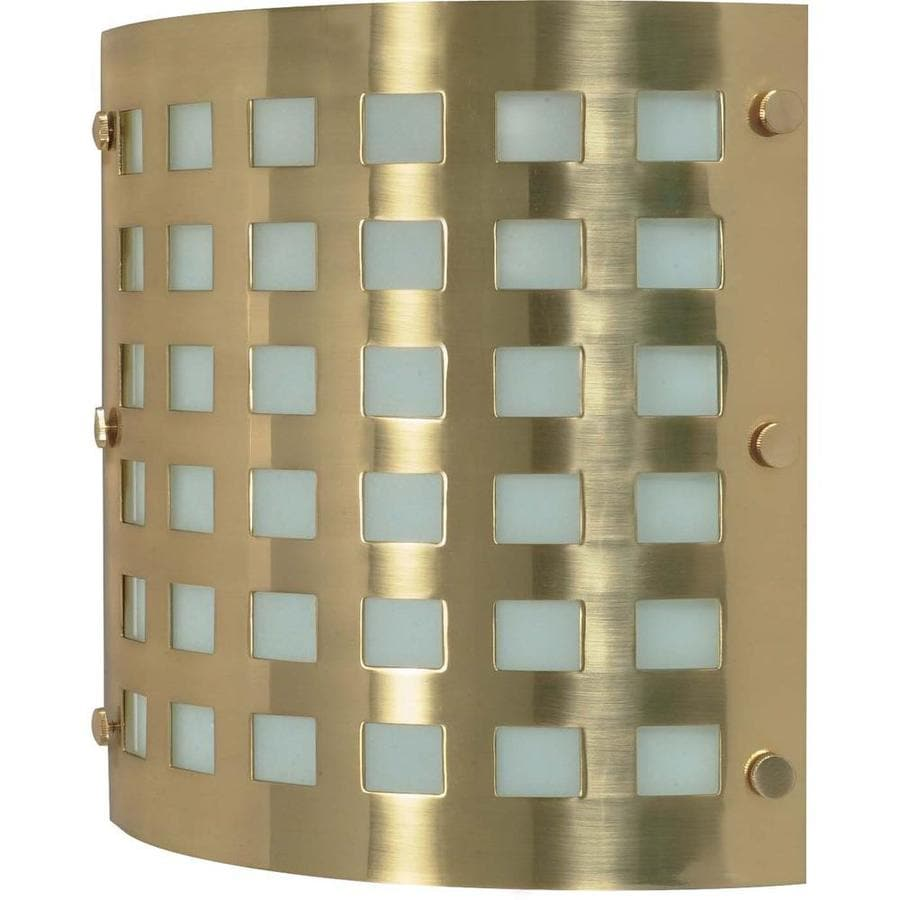 Castillo 13.85-in W 2-Light Brushed Brass Pocket Wall Sconce