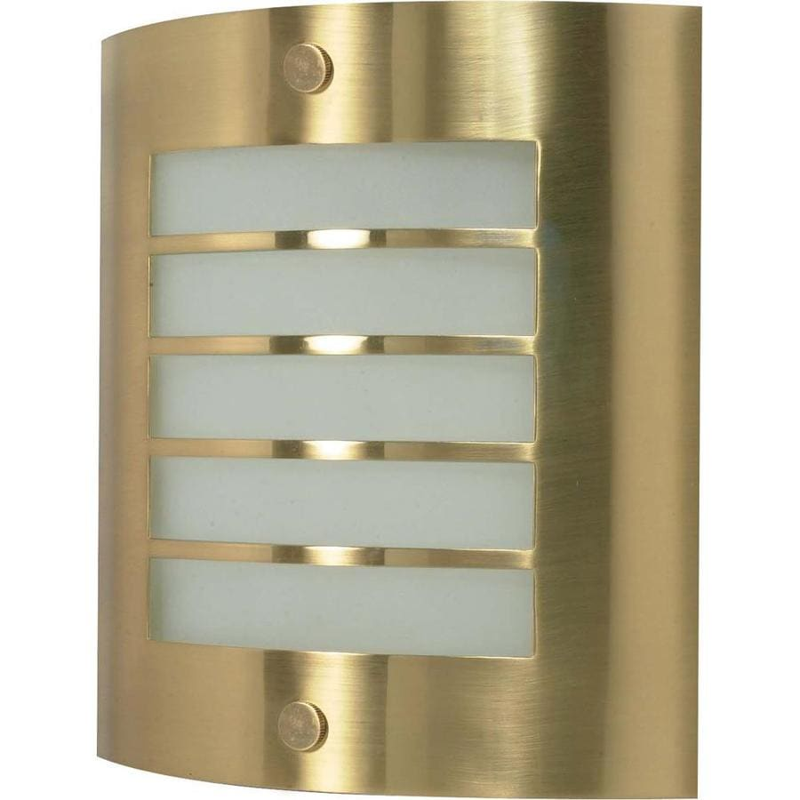 Castillo 15.35-in W 1-Light Brushed brass Pocket Wall Sconce