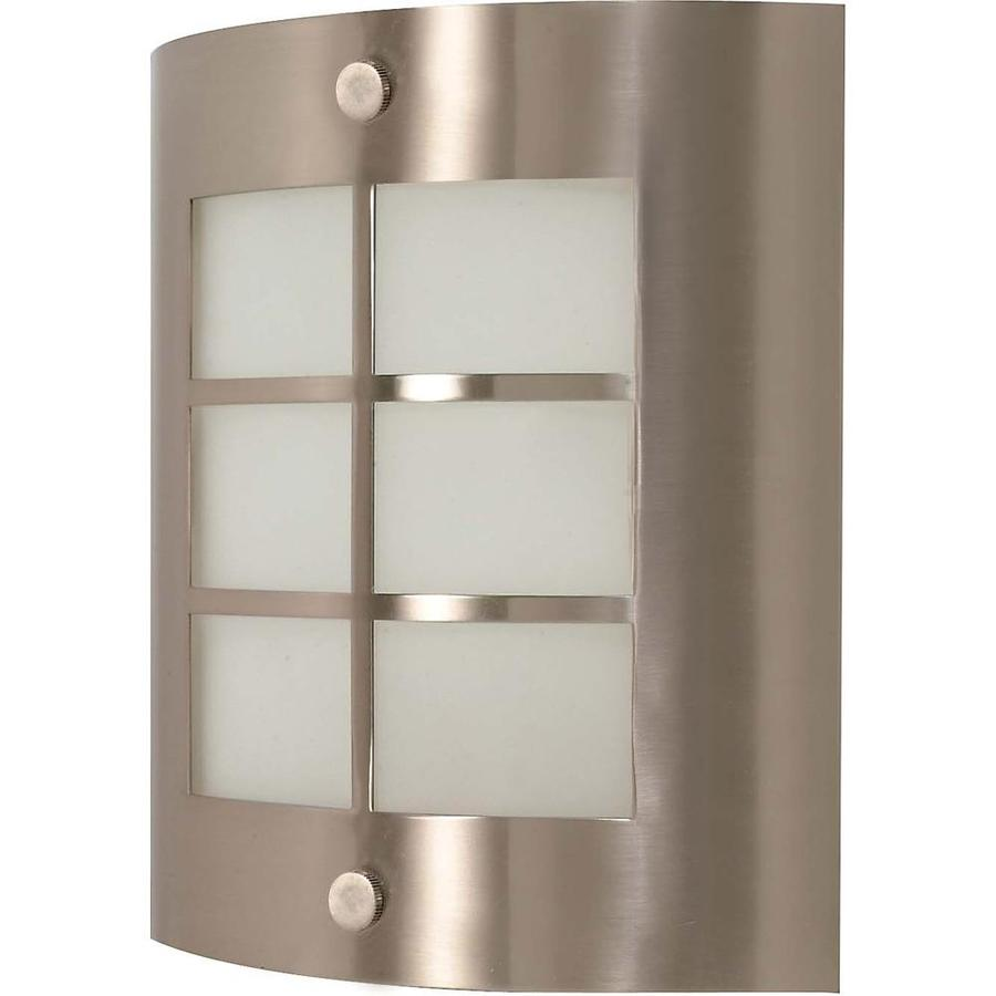 Castillo 15.35-in W 1-Light Brushed Nickel Pocket Hardwired Wall Sconce