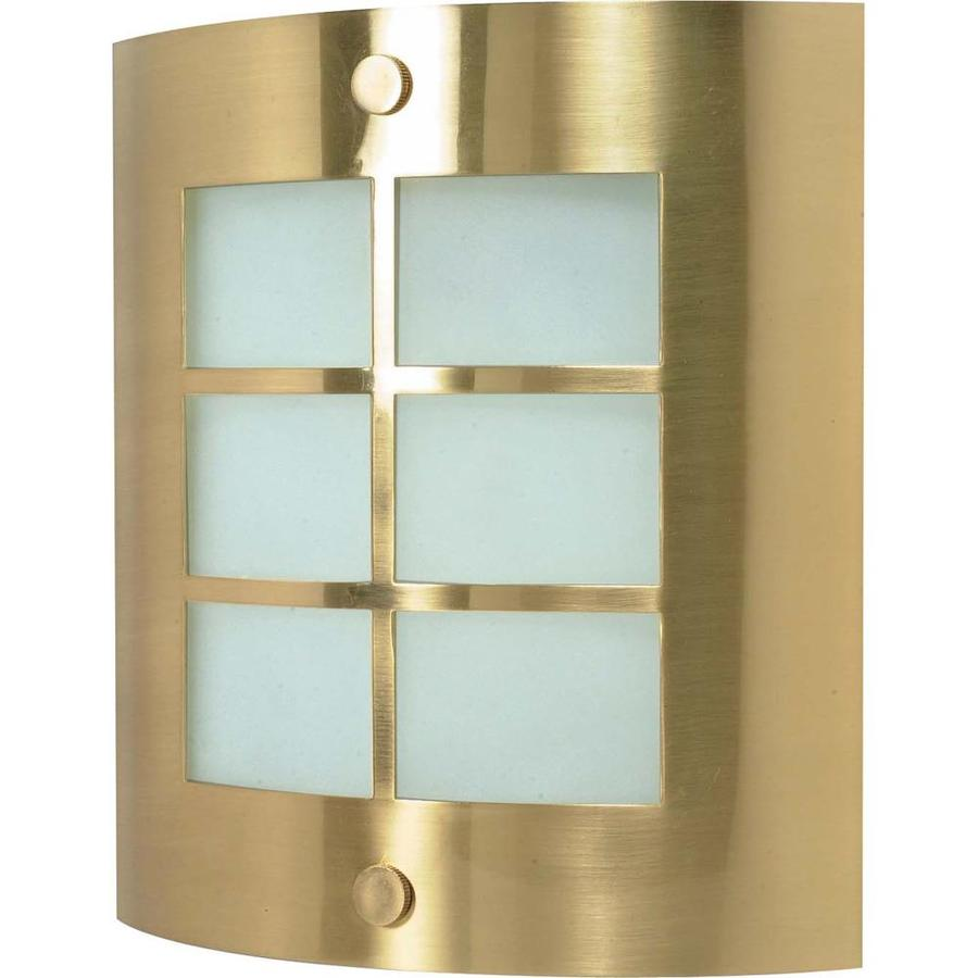Shop Castillo 15.35-in W 1-Light Brushed brass Pocket Wall Sconce at Lowes.com