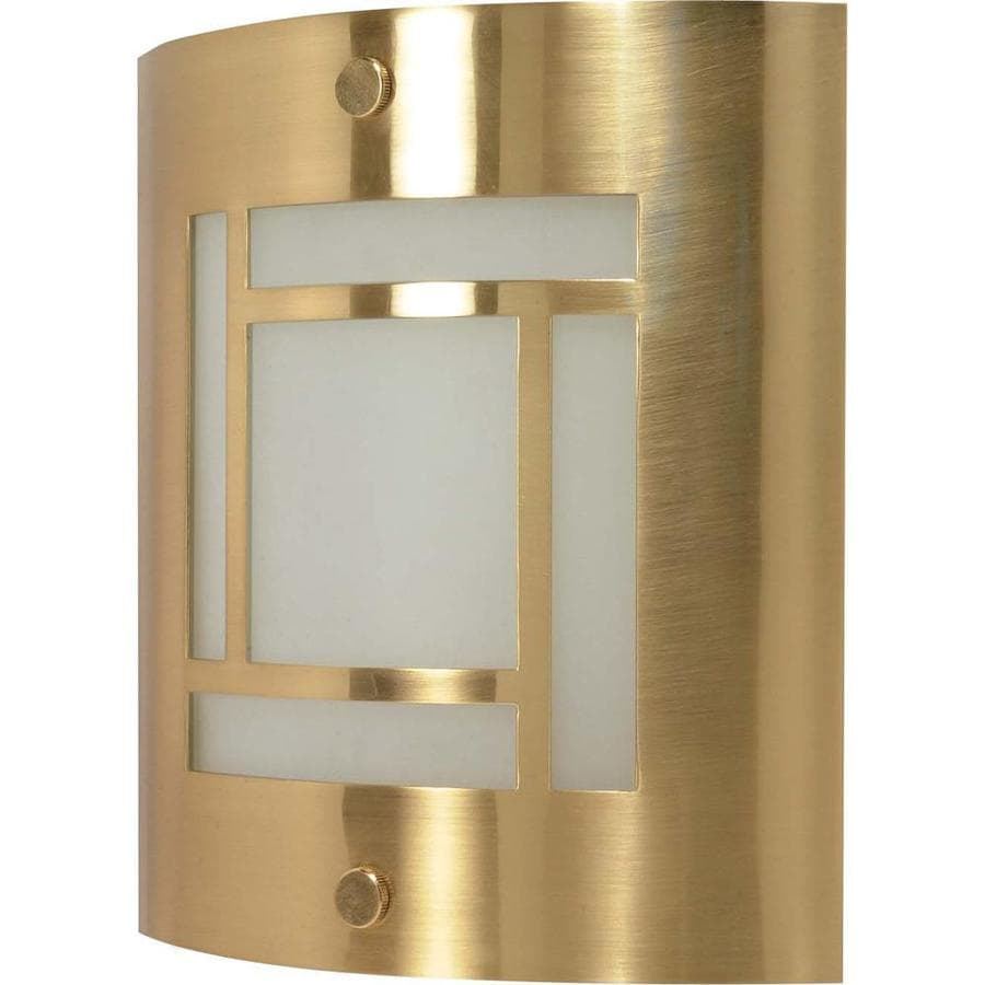 Castillo 15.35-in W 1-Light Brushed Brass Pocket Hardwired Wall Sconce