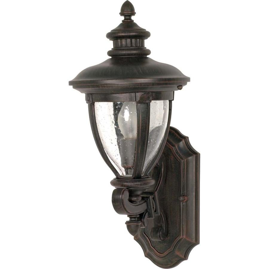 18.62-in H Old Penny Bronze Outdoor Wall Light